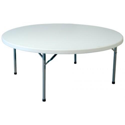 Mesa redonda de resina for Mesa y sillas en resina trenzada barata