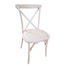 Silla Cross Back Blanco Decapado